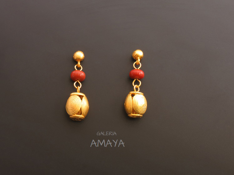 Pre-Columbian jewellery earrings - By GaleriaAMAYA.com